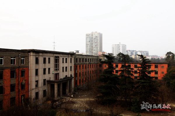 成都420厂+厂区+办公楼+在屋顶拍摄大楼背面