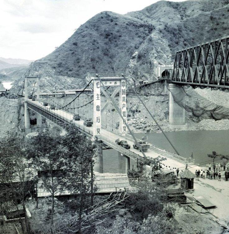 yalong suspension bridge 1966